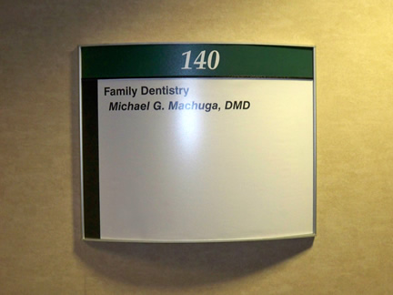 Curved Interior Directional Sign