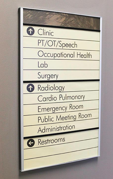 Interior Wayfinding Directional Signs Howard Industries