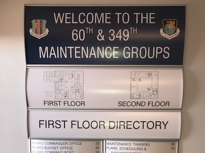 Interior Wall Mount Directory Signage