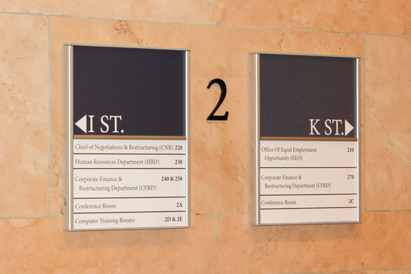 GSA Schedule Contract Interior Signage