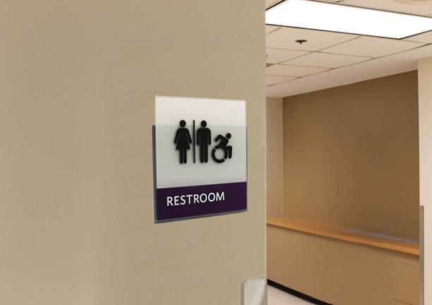HID ADA Compliant Restroom Identifcation Sign