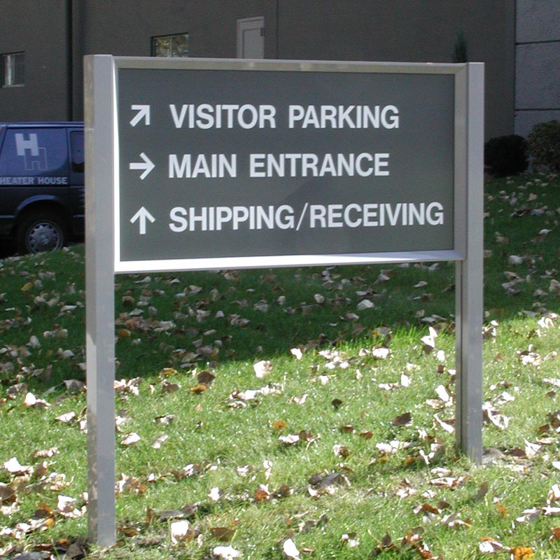 post  panel hed    signage system