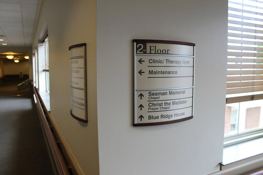 interior way wayfinding view building signage benefis design this systems products takeform