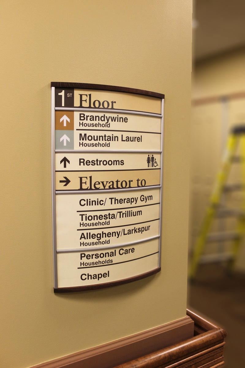 Directional Interior Wayfinding Directional Signs