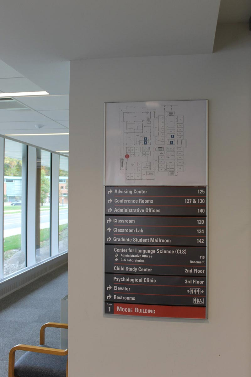 HID Building Directory Sign