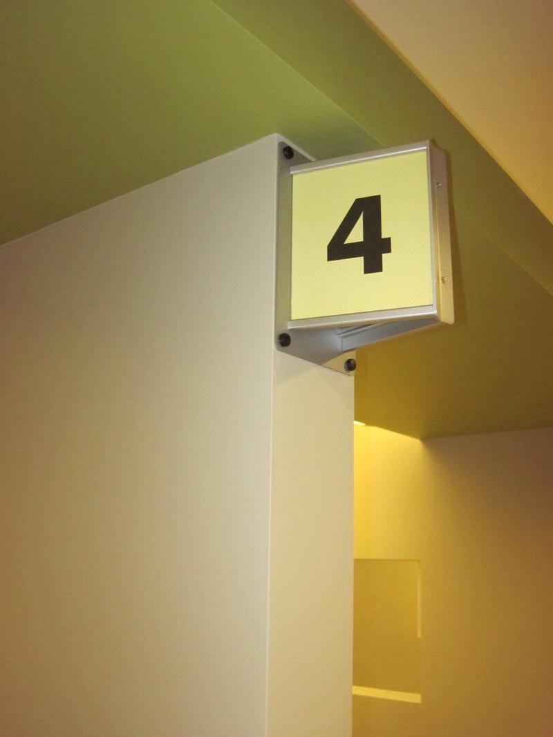 Projection Mounted Interior Signage System