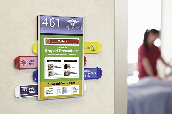 Hospital Patient Room Sign Changeable Icons