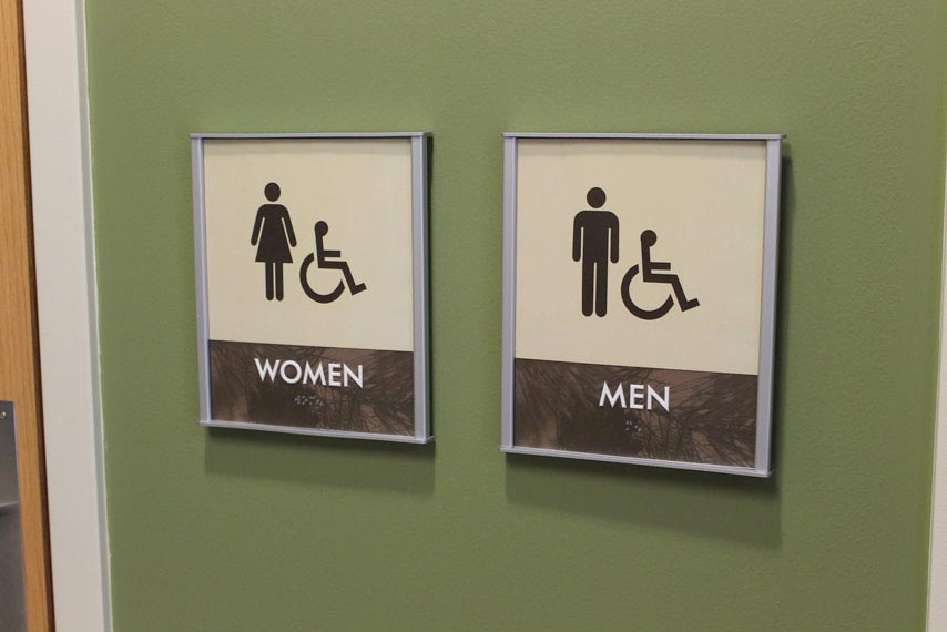 HID ADA Compliant Restroom Identifcation Signs