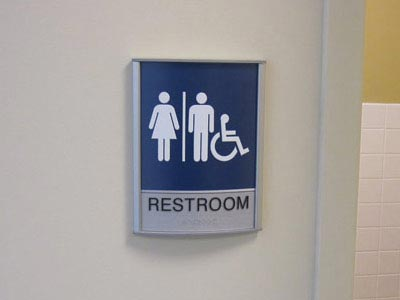 ADA Compliant Restroom Identification Signage