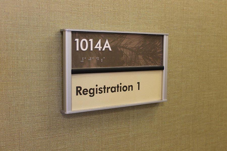 HID ADA Compliant Interior Room ID Sign
