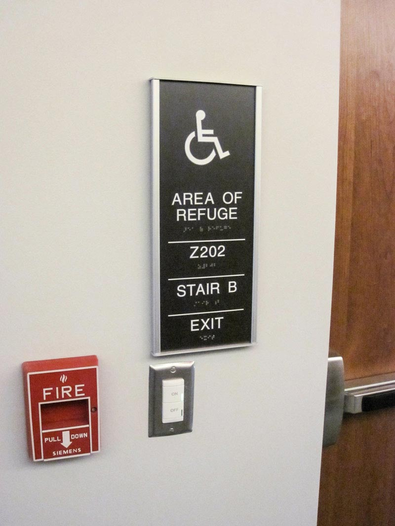 Stairwell Signage Ada Compliant Howard Industries