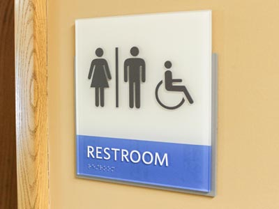 ADA Compliant Acrylic Restroom Sign