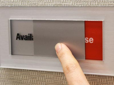 Acrylic Interior Sign with Status Slider