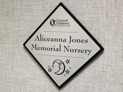 Laser Etched Donor Recognition Sign