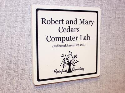 Laser Etched Marbled Acrylic Donor Sign