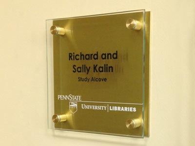 Laser Etched Multiple Layer Donor Sign