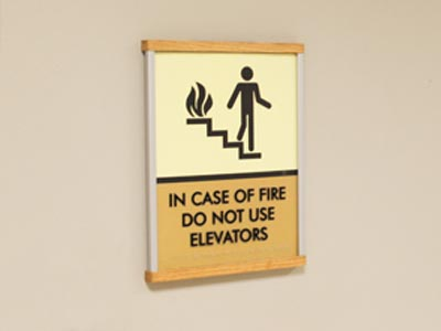 HID ADA Compliant Elevator Sign with Wood Caps