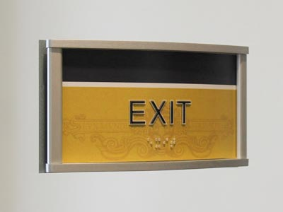 HID ADA Compliant Exit Sign