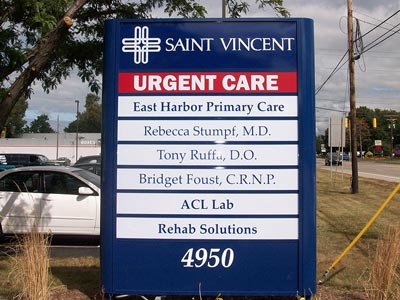 HED I-12 Changeable Tenant Panel Sign