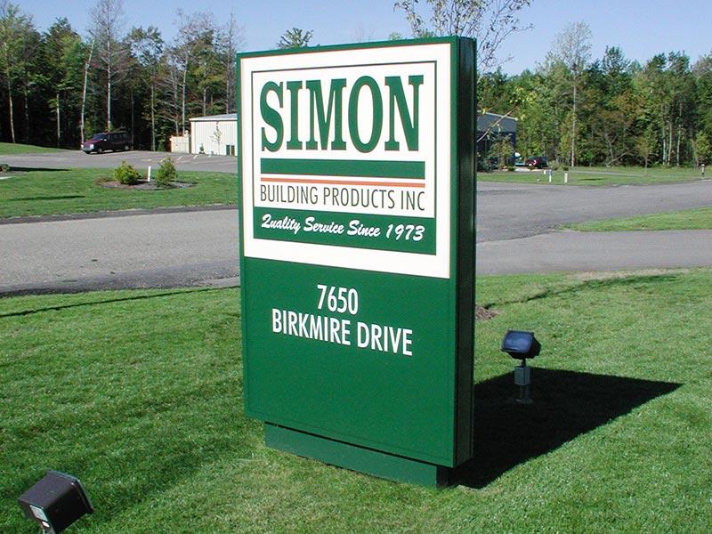 illuminated hed   illuminated post panel sign system