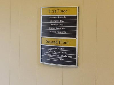 HID Building Floor Directory Sign