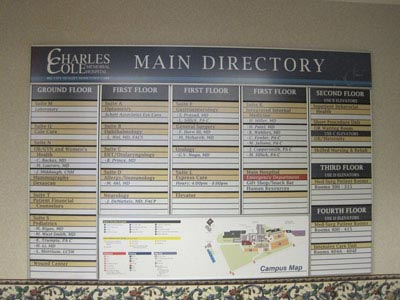 HID Building Main Directory Signage