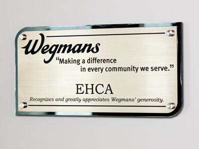 Laser Etched Acrylic Donor Sign with Standoffs
