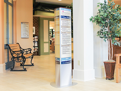Interior Free Standing Directory Signage