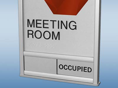 Meeting Room Indicator Slider Sign