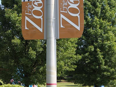 Double Perma-Banner Zoo Sign