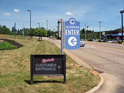 Custom Shape Perma-Banner Directional Sign