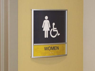 HID ADA Compliant Restroom Identifcation Sign
